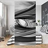 Panneau-rideau Illusionary II 250x120cm | support au choix panneau japonais rideau coulissant panneau-rideau séparateur d'espace paravent tableau mural déco décoration ...