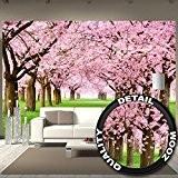 papier peint de cerisier à fleurs Décoration de peinture murale Fleurs du printemps jardin de plante nature du parc Walt ...