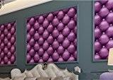 Papier peint Imitation cuir doux stéréo Wallpaper Salon télévision Canapé Chambres murs chevet Wallpapers 0.53M*9.5M,Zi Lan Luo