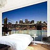 Papier peint intissé - Brooklyn Bridge in New York - Mural Large papier peint photo intissé tableau mural photo