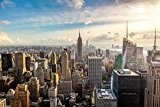 Papier Peint Photo Mural INTISSÉ-(44V) NEW YORK SKYLINE-350x260 cm -7 lés 50x260 cm- de haute qualité impression NUMÉRIQUE photo réaliste! ...