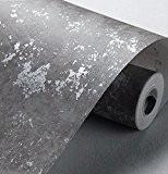 Papier peint rétro Papier peint intissé Salon Chambre à coucher 0.53m*10m, gris fumée