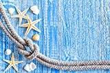 Papillon Tapis de salle de bain super absorbant en polyester multicolore Motif étoile de mer sur bois bleu 60x 40cm ...