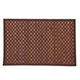 """Paris Prix - Tapis en Bambou """"Damier"""" 170cm Chocolat"""