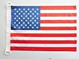 PAVILLON NAUTIQUE ETATS-UNIS 45x30cm - DRAPEAU DE BATEAU AMÉRICAIN - USA 30 x 45 cm - AZ FLAG