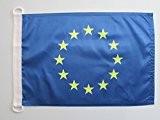 PAVILLON NAUTIQUE EUROPE 90x60cm - DRAPEAU DE BATEAU EUROPÉEN 60 x 90 cm - AZ FLAG
