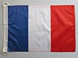 PAVILLON NAUTIQUE FRANCE 90x60cm - DRAPEAU DE BATEAU FRANÇAIS 60 x 90 cm - AZ FLAG