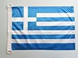 PAVILLON NAUTIQUE GRÈCE 45x30cm - DRAPEAU DE BATEAU GREC 30 x 45 cm - AZ FLAG