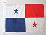 PAVILLON NAUTIQUE PANAMA 45x30cm - DRAPEAU DE BATEAU PANAMÉEN 30 x 45 cm - AZ FLAG