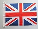 PAVILLON NAUTIQUE ROYAUME-UNI 45x30cm - DRAPEAU DE BATEAU ANGLAIS - UK - GRANDE BRETAGNE 30 x 45 cm - AZ ...