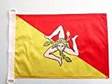 PAVILLON NAUTIQUE SICILE 45x30cm - DRAPEAU DE BATEAU SICILIEN - ITALIE 30 x 45 cm - AZ FLAG