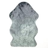 Peau de mouton synthétique, Cozy Sensation comme véritable laine Tapis en fourrure synthétique,Gris