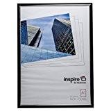 Pela1blk Premium Easy Loader Noir A184x 59cm Affiche de photo écran pêle-mêle Cadre photo non avant en verre