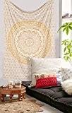 Pensée magique de collection par rawyal Crafts original or et argent ombre Bohemian Mandala Tapisserie Couvre-lit, Suspendre Mandala hippie mur ...