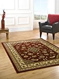 Petite classique Oriental persan Style floral Tapis traditionnel/Tapis, Rouge–80x 150cm