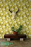 Petite décoration murale vintage gareden Papier peint Motif rose/Papier peint autocollant amovible sticker mural/papier peint motif vintage Sticker mural/rose/rose de ...
