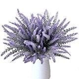 Plantes de lavande artificielle, MIHOUNION 8 lots Fake Flocked Provence Fleurs violettes Bouquets Accueil Cuisine Bureau Mariage Fenêtres Arrangements floraux ...