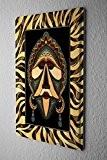 Plaque Émaillée Décoration Murale Aventurier masque africain Publicité Signes En Métal 20X30 cm