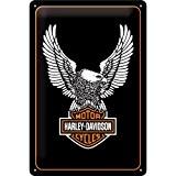 Plaque métal Harley Davidson Aigle