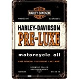 PLAQUE METAL MOTO PRE LUXE - LICENCE HARLEY DAVIDSON - 10x14 cm - FRAIS OFFERT