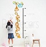 popdecors–Singes croissance Tableau–Sapin sur mesure Stickers muraux pour chambre d'enfant ado filles garçons papier peint non-tissé Sticker mural Stickers Chambre ...