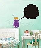 popdecors–Tableau noir en Tirelire en forme de cochon Sweet Dream–Sapin sur mesure Stickers muraux pour chambre d'enfant ado filles garçons ...