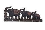 """Porte-clés en bois avec """"Triple Elephant"""" conception, bois keyring Handcrafted Armoire Mini, boîte décorative de stockage de la clé de ..."""