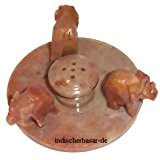 Porte-Encens en Stéatite pierre à savon 3 éléphants en cercle pour 5 batonnets d'encens Artisanat indien