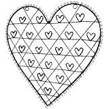 porte photographies ple mle 19 accroches clichs motif coeur poser en fer patin gris - Pele Mele Photo Coeur
