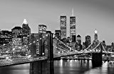 Poster XXL Giant Art® Manhattan Skyline at Night photo, photo murale, poster, grand format, 175x115cm, ville, noir et blanc, New ...