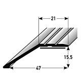 Profilé de bordure / Seuil d'arrêt / seuil d'adaptation pour le stratifié, 15,5 mm de haut, Aluminium anodisé, autoadhésif, couleur: ...