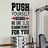 Push yourself because no one else is going to do it for you Sticker mural Empire quote-health et Spinning Kettlebell ...