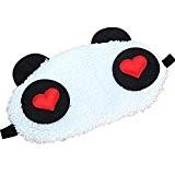 QHGstore 1x Belle Panda Visage Oeil Voyage Masque Dormir Blindfold Cute cadeau de Noël