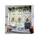 QHGstore Rideaux de levage Voile Rideau de fenêtre pour chambre à coucher rouge 140*140cm