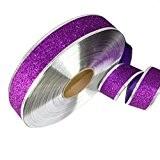 Qingsun Rouleau Ruban de Paillettes pour Bricolage Artisanat Noël Bande Arbre Maison Mariage Décoration 2m, violet