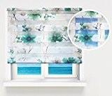 Qualité Double Fonction à motif zèbre/Vision Jour et Nuit fenêtre Store enrouleur à choix de 16Largeur Tailles, géant 200cm Fleurs ...