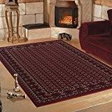 Qualité souple Design classique Oriental traditionnel Bordée Rouge Tapis en 6tailles, 200 x 290 cm (6'7'' x 9'6'')