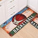 Quibine Motif Basketball Paillassons Tapis Décor Intérieur Maison Chambre Salle Salon, 60*90CM
