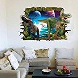 RAIN QUEEN Loisirs Créatifs DIY Art Animal Sticker Mural Wall Stickers Paroi Murale Geant Autocollant 3D La planète du Dinosaure