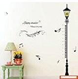 Rainbow Fox Règle Toise Stickers Muraux, grand Règle en plastique Street Lampe à mesurer enfants interieure
