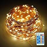 Refoss Lumières utilisées extérieur, 20M fil de cuivre dimmable, chaîne LED étoilé avec télécommande, Lumières étanches appliquent à chambre, patio, ...