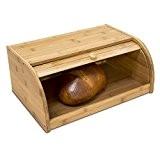 Relaxdays Boîte à Pain HxlxP : 16,5 x 40 x 27,5 cm cuisine en bois de Bambou avec Couvercle Coulissant ...