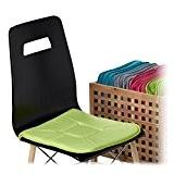 Relaxdays Galette de chaise avec boucles coussin de chaise lot de 4 coussins lavables 40 x 40 cm jardin intérieur ...