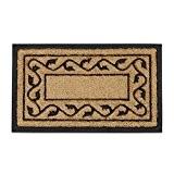 Relaxdays Paillasson en fibres de coco tapis de sol face inférieure antidérapant en caoutchouc intérieur extérieur avec motif décoratif L ...