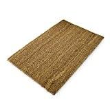 Relaxdays Paillasson fibres de coco intérieur extérieur design neutre tapis d'entrée saleté et la boue chaussures en fibre de coco ...