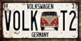 RETRO METAL WALL SIGN TIN VW VOLKSWAGEN CAMPER VAN PLAQUE VINTAGE LICENCE PLATE STYLE T1 T2 SPLITTY BAY by Harrington ...