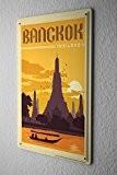 Rétro Signe Wall Art Métropole Bangkok Thaïlande Publicité Signes En Métal 20X30 cm