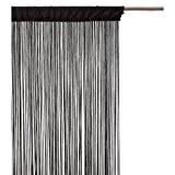 String Rideau Fil Porte De Rideau 150cm X 250cm AeMBe Perle Blanche Meilleure Qualit/é