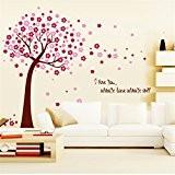 Romantique cerise Peach Blossom fleurs prune Arbre Stickers Muraux Papier peint Art Stickers vinyle Home Décoration DIY amovible Salon Chambre ...