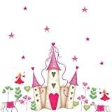 RoomMates Stickers muraux repositionnables Enfant Château de princesse